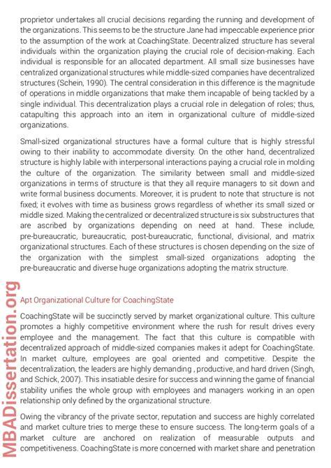 mba dissertation exles mba dissertation sle on organizational behavior