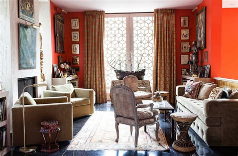 Living Room History by Inside An Amazingly Bold Maximalist Home One