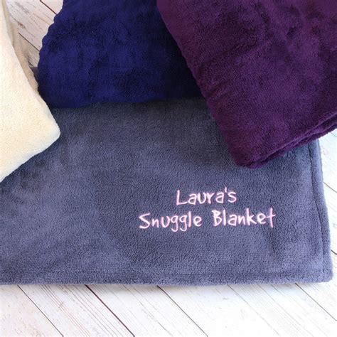 bettdecke kuscheln personalised snuggle blanket by duncan stewart textiles