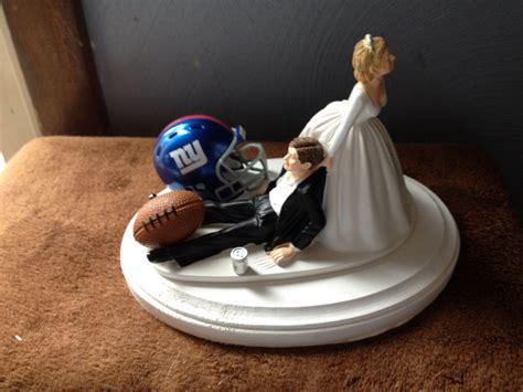 cake topper wedding bridal new york giants nfl football team theme wedding cake toppers