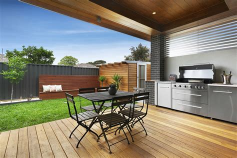 backyard built in bbq ideas modern alfresco backyard decking bbq built in small