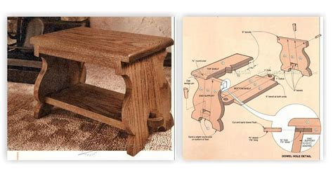 Wooden Stool Plans Free by Foot Stool Plans Woodarchivist