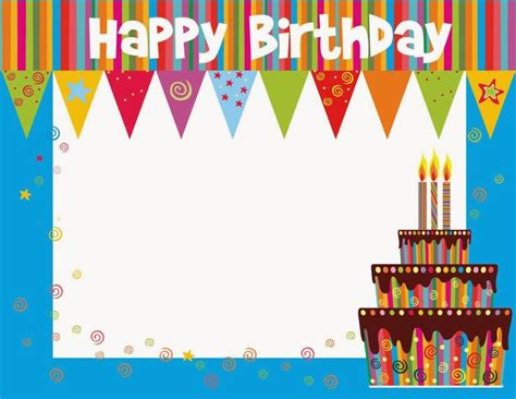 birthday card template insert photo free printable birthday cards ideas greeting card