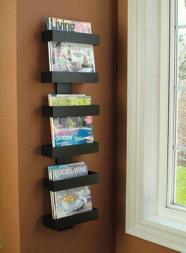 amazoncom modern magazine rack wall mounted magazine