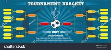 soccer banner european football tournament bracket stock