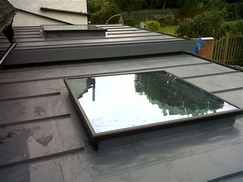 amv roofing and construction single ply membrane roof with flat roof light a