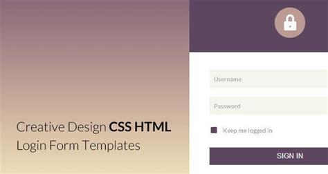 elegant html css login form templates webdesignboom