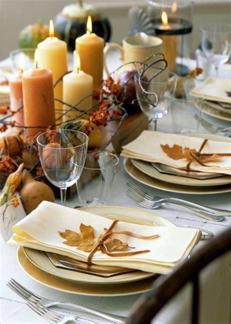 tavola autunnale decorazioni autunnali