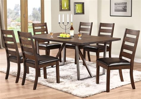 kendall dining room winners only kendall 7 piece dining set with trestle table