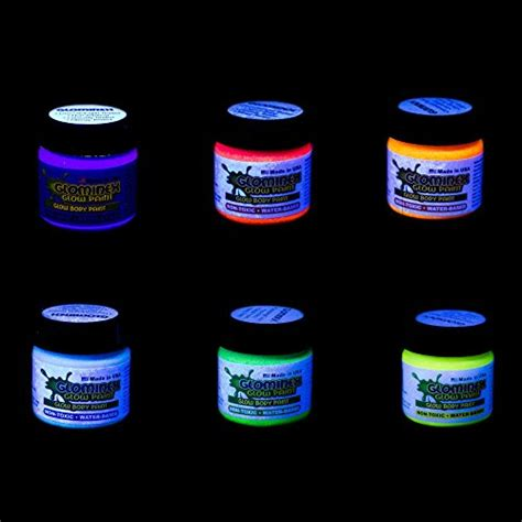 glow in the paint different colors glominex ah921 glow in the and paint glow