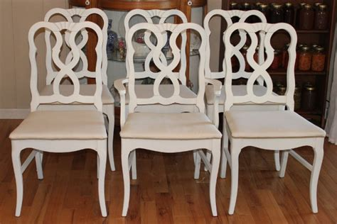white country dining chairs upholstered 6 country dining chairs painted white and newly