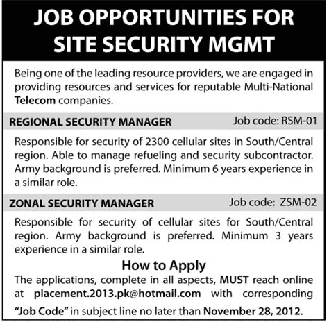 Security Site Manager by Security Manager Vacancy Security Guards Companies