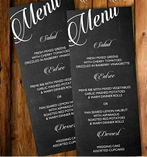 printable chalkboard menu template posh pixel boutique
