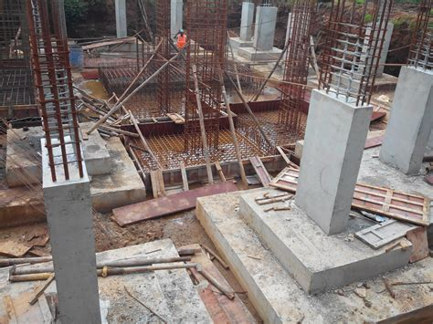 layout of building foundation substructure construction basics re told