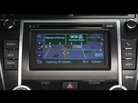 Toyota Navigation How To Use Navigation System 2012 Toyota Camry