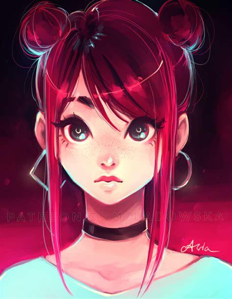 anime hairstyles tumblr manga girl red hair tumblr