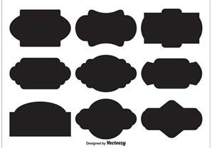 shape templates free vector label shapes free vector stock
