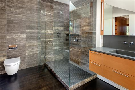 Modern Bathroom Remodel by Bathroom Remodeling By H H Portland Seattle Remodeler
