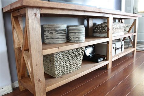rustic sofa tables diy white rustic x console table diy projects