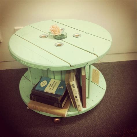1000 images about cable wheel table repurposed on