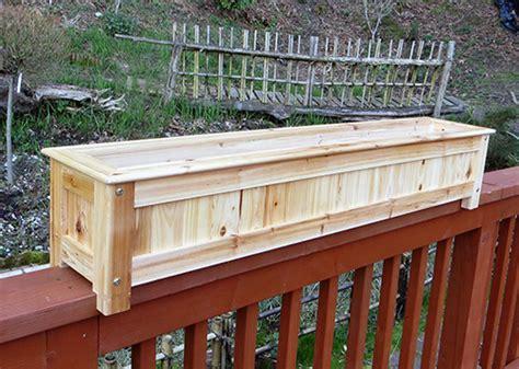 Planter Box Railing by Wood Deck Planter