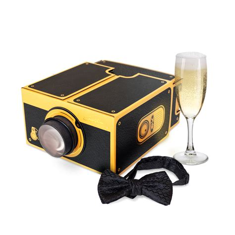 with projector smartphone projector 2 0 black gold