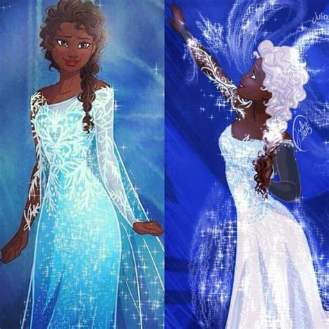 black frozen doll american version of elsa sewing hair stickers