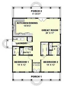 2 Bedroom Cottage House Plans cottage style house plan 2 beds 2 baths 1292 sq ft plan