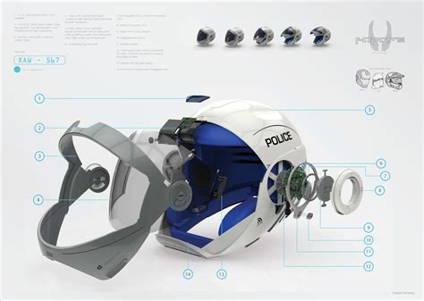 helmet design engineering robocop s helmet gives policemen the most sci fi tech ever