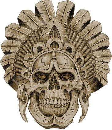 aztec skull tattoos designs aztec warrior skull pinteres