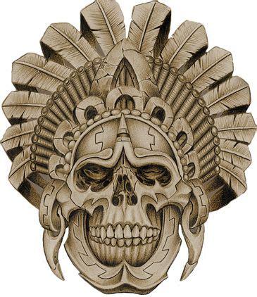 aztec skull tattoo designs aztec warrior skull pinteres