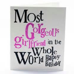 the bright side most gorgeous girlfriend birthday card