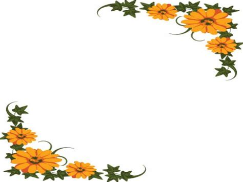 flower frame template background flower design for power point clipart best