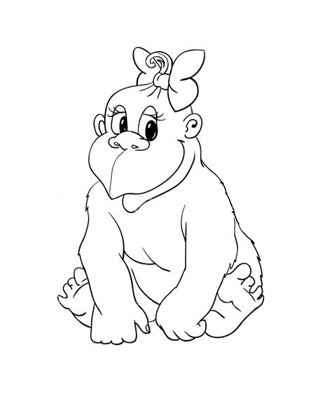 Dibujos Infantiles Org | dibujos de gorilas para ni 241 os pintar y colorear