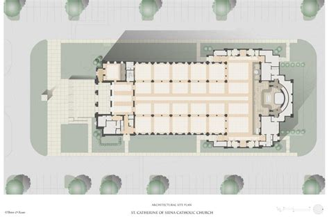 roman catholic church floor plan st catherine of siena catholic church design