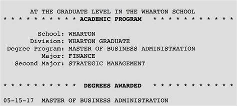 Wharton Mba Diploma by Degrees Of Gleb Chuvpilo