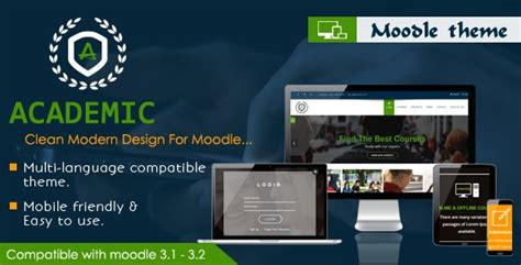 Themes Moodle Nulled | themeforest academic responsive moodle theme moodle