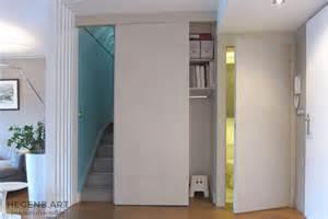 Merveilleux Interieur Maison Moderne Photos #7: Rangement-intelligent-entree-porte-wc-bazar-escalier-meuble-portes-sur-mesure-Hegenbart-Aix.jpg