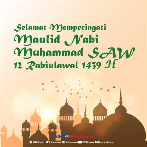 kata ucapan selamat memperingati maulid nabi muhammad