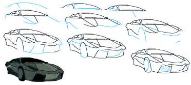 Steps To Draw A Lamborghini How To Draw A Lamborghini Reventon Techniques