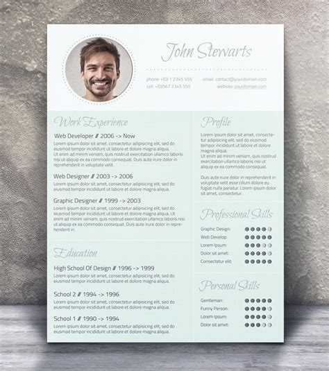Best Resume Templates 2017 Free Download by 21 Stunning Creative Resume Templates