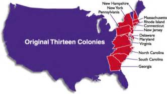 united states colonies map original 13 usa colonies and their founders