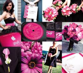 pink and black centerpieces for weddings pink and black wedding