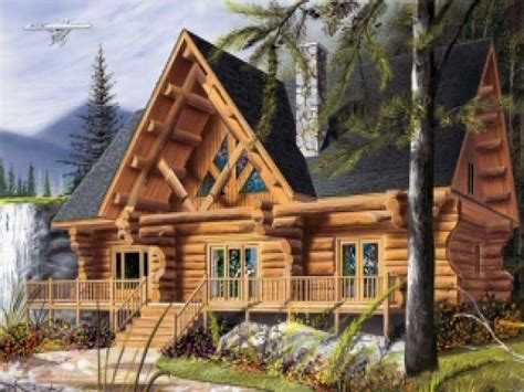 cool log cabins lake cabin with loft plans cool log cabin plans cool