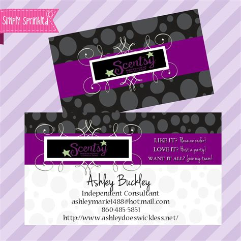 Scentsy Business Card Template scentsy business cards images