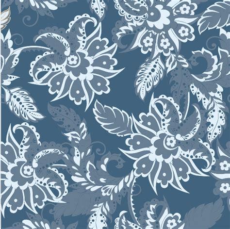 Kain Batik Pekalongan Kembang Janda print kain blue floral