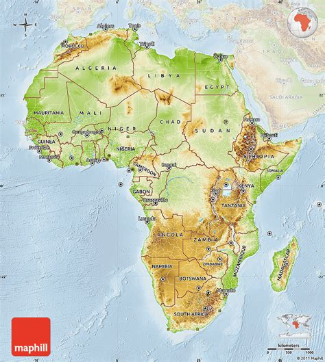 africa map features best photos of physical map of africa africa physical