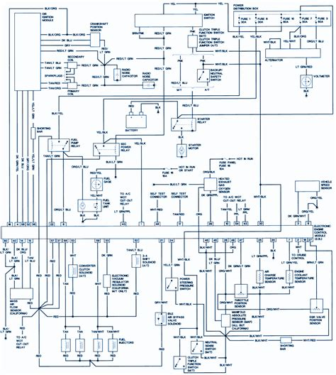 1990 ford ranger wiring diagram diagram and circuit