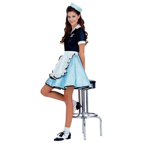 50 girl halloween costumes car hop girl costume adult 50s diner waitress halloween