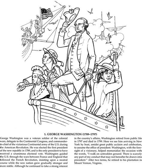 Welcome To Dover Publications American Coloring Pages Grace Free
